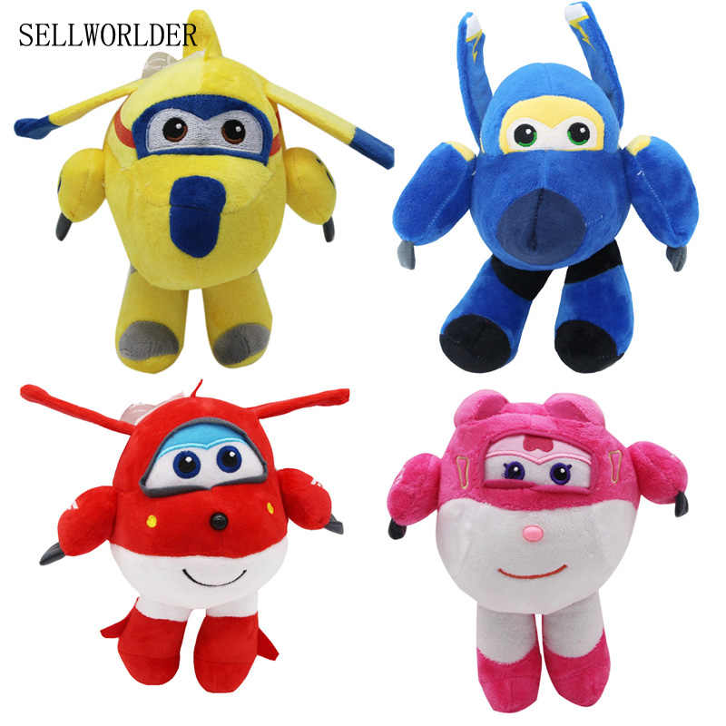 SELLWORLDER Super Wings Cartoon Character 22cm Airplane Plush Puppet Figure Toys