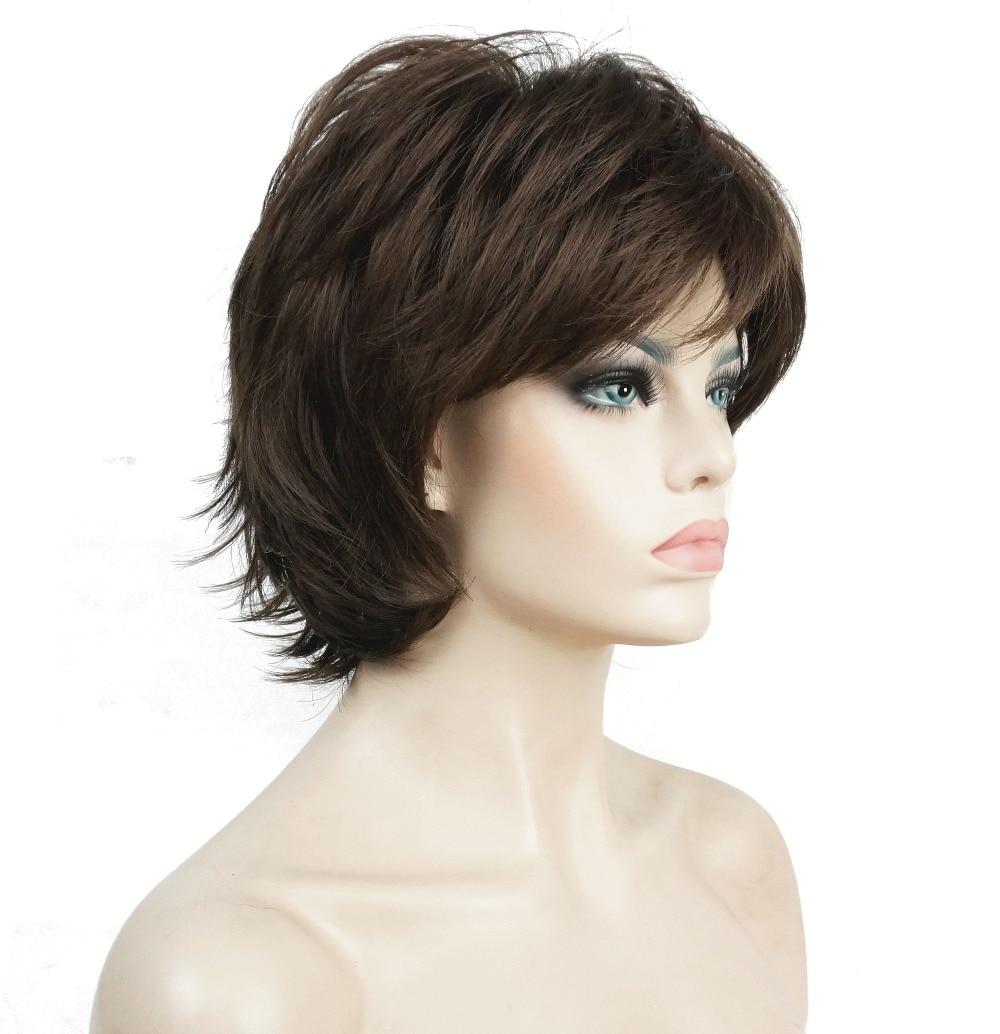 StrongBeauty Περούκα Γυναικών Μαύρο / - Συνθετικά μαλλιά - Φωτογραφία 2