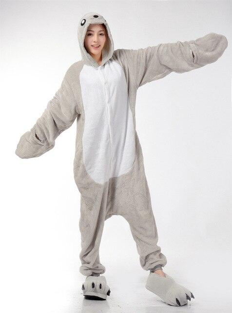 a5d70f63207a Sea Dog   Sea Lion Hooded Onesies For Adult Cute Animal Pajamas Onesies Men  Women One Piece Animal Onesie Jumpsuit Pajama