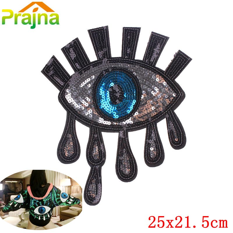 Sexy Eye Patch Sequin Patches Cheap Evil Appluque Fashion
