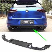 Golf 7 MK7 R Carbon Fiber Rear Bumper Lip Diffuser for Volkswagen VW Golf7 Car Styling Only R Bumper