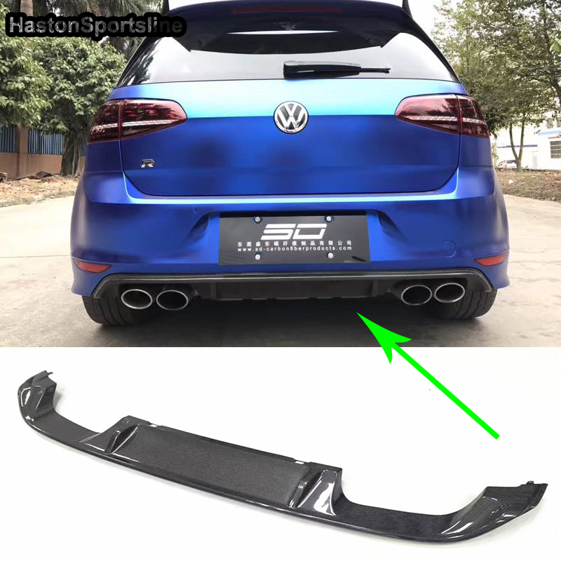 Golf 7 MK7 R Carbon Fiber Rear Bumper Lip Diffuser for Volkswagen VW Golf7  Car Styling Only R Bumper