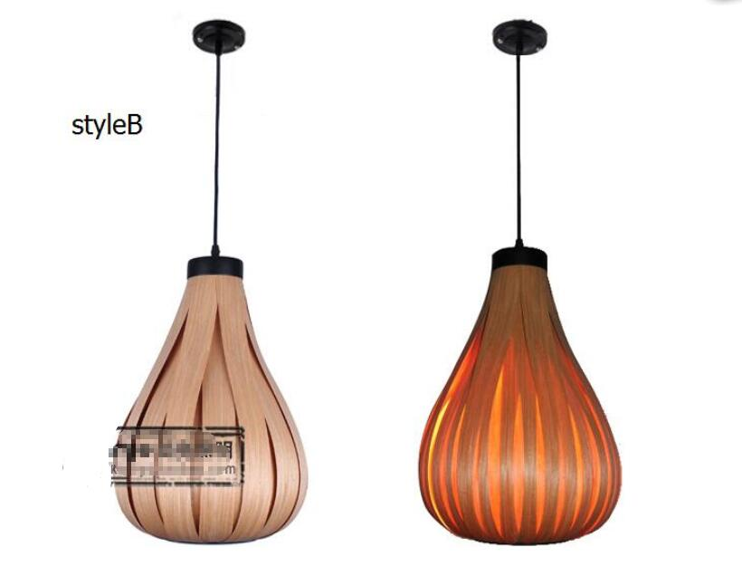 Southeast Asia Thai Japanese Nordic lamp veneer coffee shop aisle garden restaurant study living room Pendant Lights southeast asia chinese style wooden veneer pendant lights living room restaurant lamp dining room lights