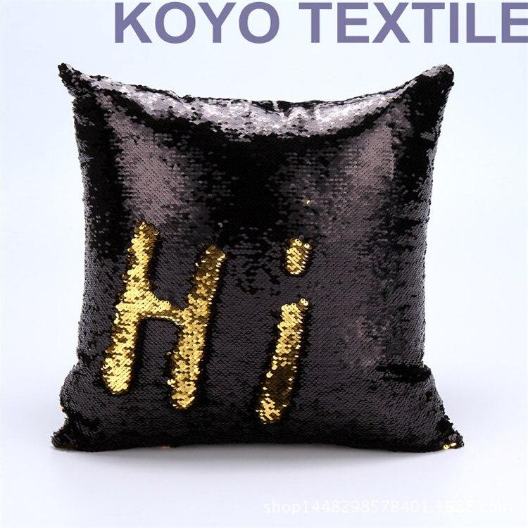 Omkeerbare Sequin zeemeermin kussenhoes kussensloop borduurwerk - Thuis textiel