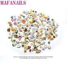 10pcs/Lot MIX Design Random Nail Charms Charm 3D Nail Art Decoration Stickers Nail Polish Design Gel DIY Alloy Rhinestone Charm