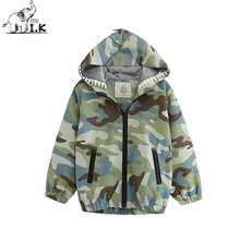 I.K Boys Jackets For Spring Autumn Hooded With Cartoon Printing Camouflage Outwearcoats Children Baby Kids Clothing Tops WT26004