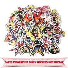 36pcs Powerpuff girls cartoon kids vintage Laptop Decoration Styling Decals DIY scrapbooking album Stickers pasters E0027