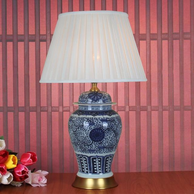 Art Chinese porcelain ceramic table lamp bedroom living room wedding table  lamp Jingdezhen night table lamp for bedroom-in Table Lamps from Lights &  ...