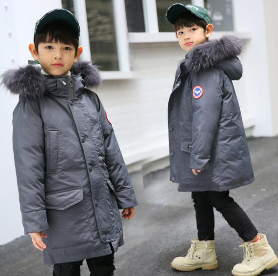 Children's Down Jacket Baby Clothing Baby Boys Jacket 2018 Winter Jacket Warm Hooded Long Sleeve Jacket for A Boy zip up long sleeve drawstring hooded jacket odm designer