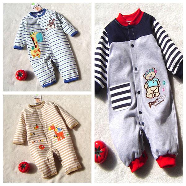 Girafa bonito Dos Desenhos Animados & Bear Fantasia Infantil Menino Romper Corpo Macacão de bebê 2016 Novas Crianças Nascidas de Desgaste Infantil Roupa Bebe roupas