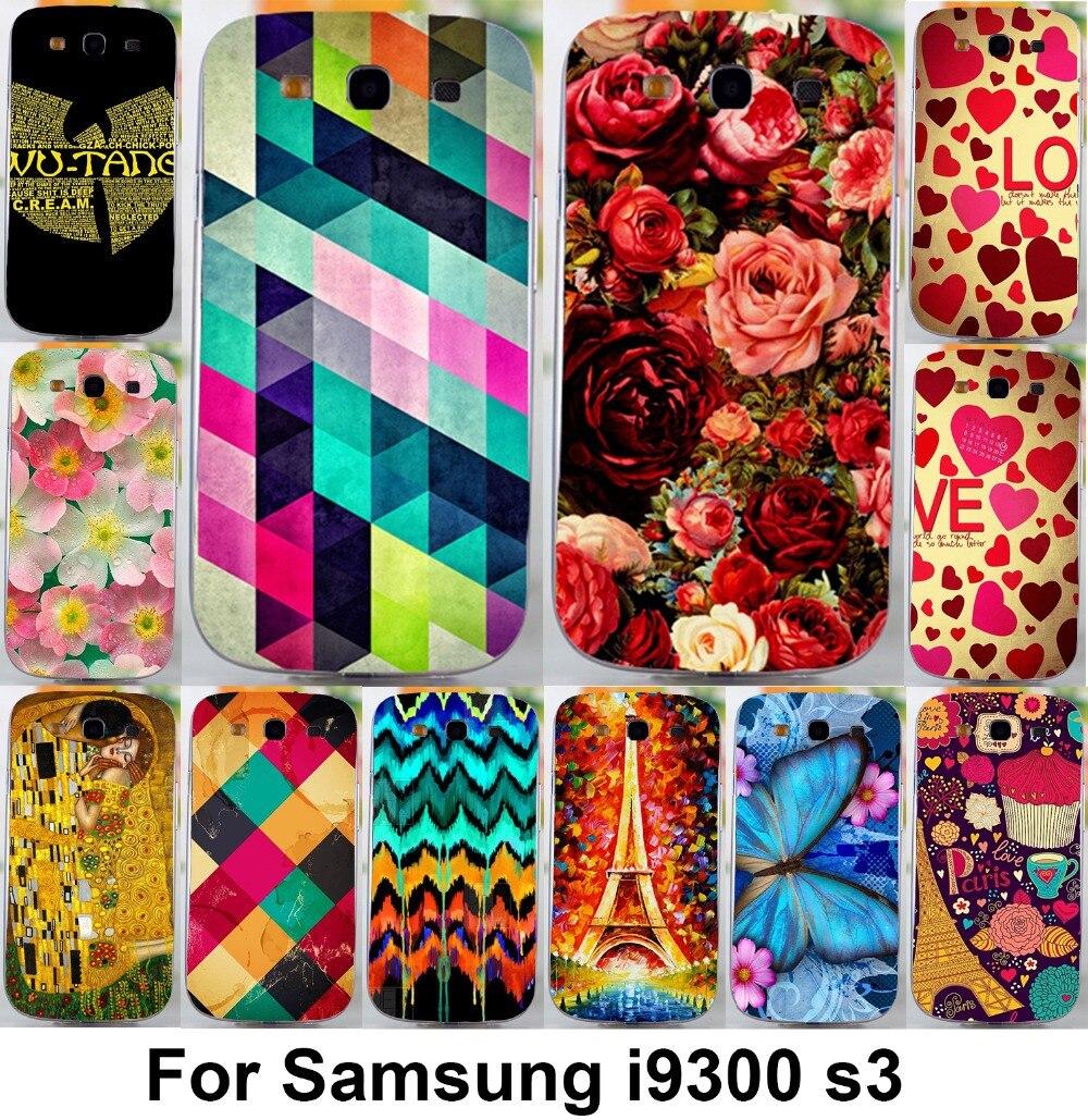 soft tpu hardplastic Flower Phone Cases For Samsung Galaxy S III S3 GT i9300 4 8