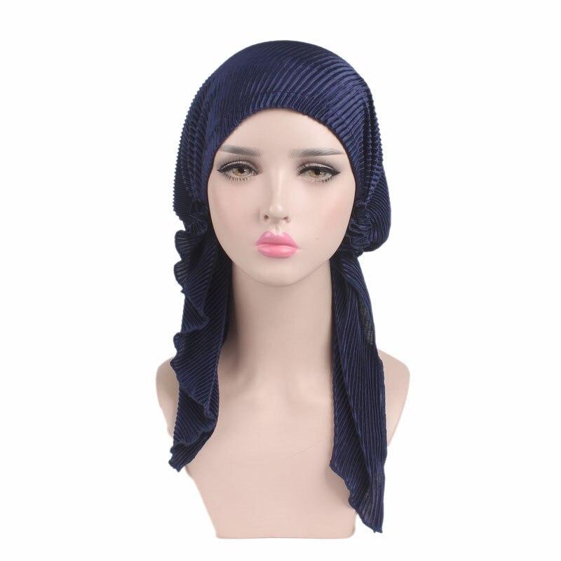 2017 Europe New Fold Long Tail Towel Headband Boho Embossed Elastic Cloth Headdress TJM-276 Hair Accessories