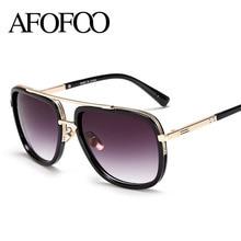 AFOFOO 15 Color Fashion Sunglasses Men Women Brand Designer Vintage Big Frame Sunglasses High Quality UV400 Oversized Shades