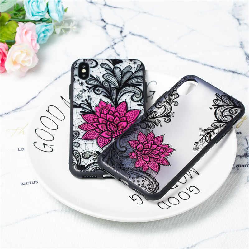 Чехол для телефона s для huawei P8 P9 Lite 2017 P10 Lite P10 плюс тиснением black rose задней акриловой противоударный чехол из ТПУ + ПК с цветочным принтом Футляр для телефона