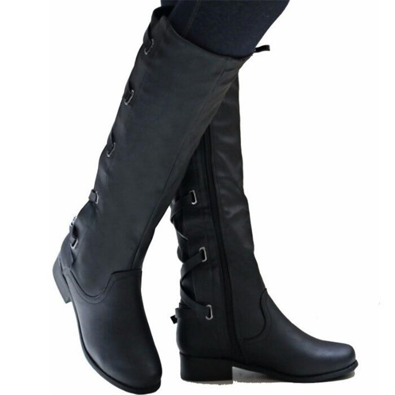 sapato-feminino-riding-boots-women-shoe-low-heels-round-toe-girls-knee-high-martin-booties-cross (4)_