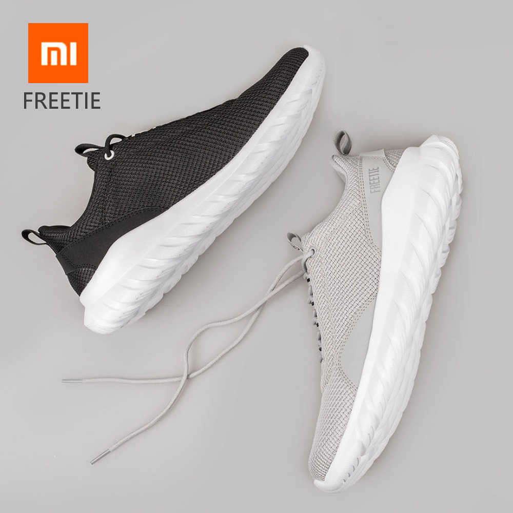 Xiaomi FREETIE EUR 39-44 Plus Size Men's Sports Shoes Light Breathable Knitting City Running Sneaker for Outdoor Sports smart