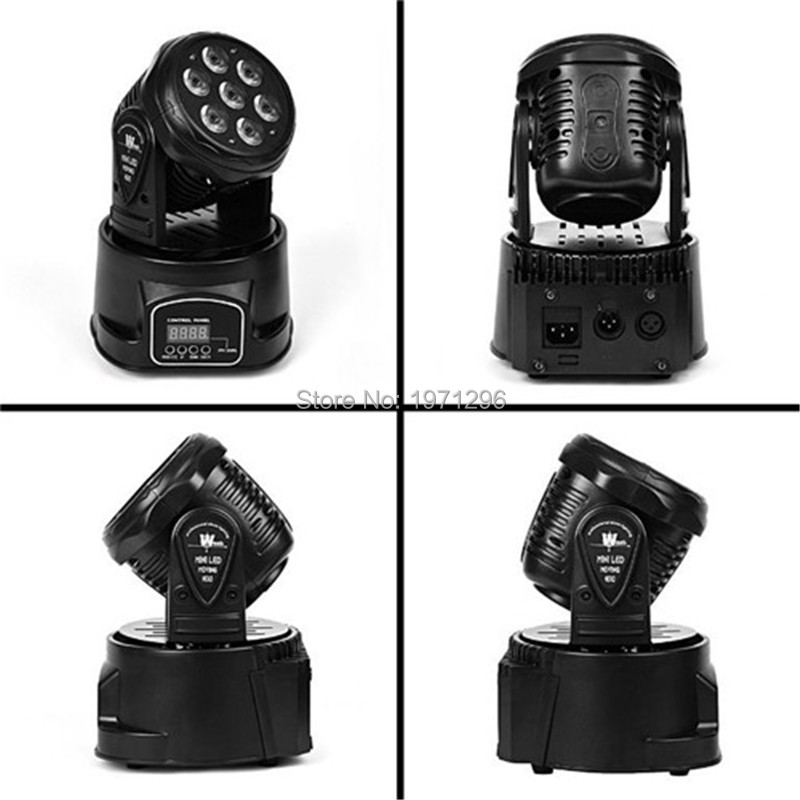 4pcs/lot HOT LED DMX Moving Head Mini 7*12W Wash Light Stage Lighting for DJ Party KTV Disco Free&Fast shipping 2pcs lot 10w spot moving head light dmx effect stage light disco dj lighting 10w led patterns light for ktv bar club design lamp