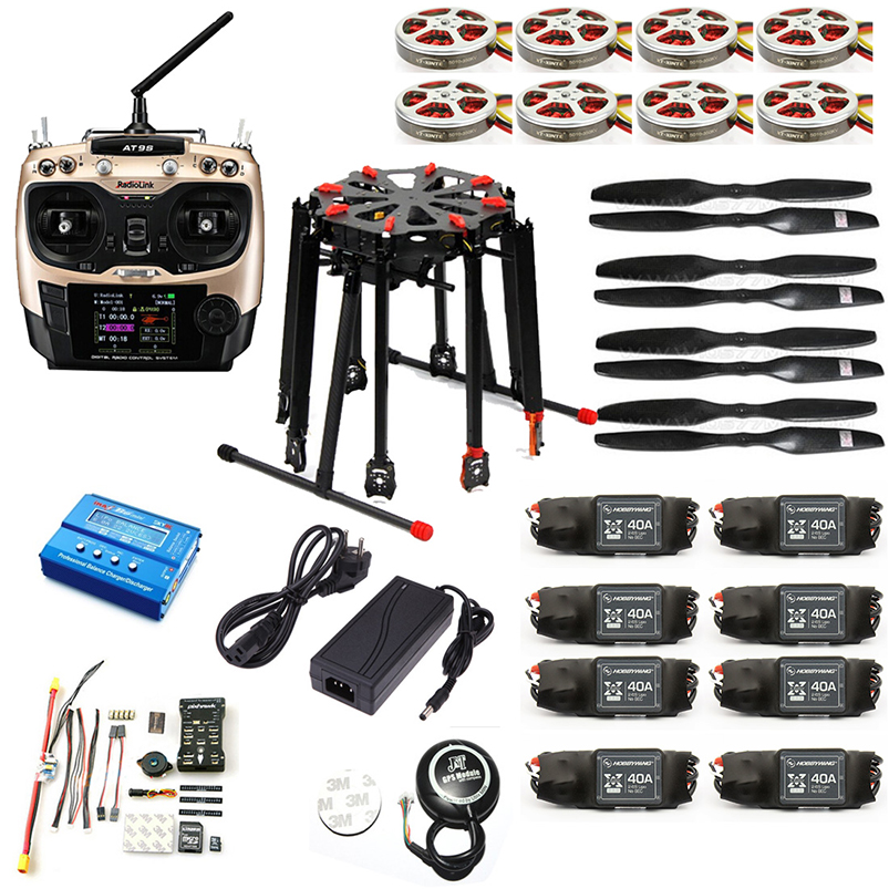 Image 5 - DIY GPS Drone Tarot X8 TL8X000 8 Axis Folding Frame 350KV 40A PX4 32 Bits Flight Controller Radiolink AT9S Transmitter F11270 D-in RC Helicopters from Toys & Hobbies on AliExpress