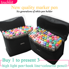 Touchliit 30/40/60/80 Colors Alcohol Based Ink Art Sketch Manga Twin Markers