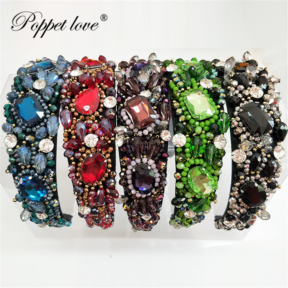 New Luxury Full Rhinestone Women Weaving Hairbands Crystal Headbands Exquisite Flower Women Hair Accessories Head hoop  New Luxury Full Rhinestone Women Weaving Hairbands Crystal Headbands Exquisite Flower Women Hair Accessories Head hoop