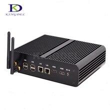 Быстрая скорость HTPC Безвентиляторный Mini PC intel NUC i7 5500U 2 * Gigabit LAN + 2 * HDMI + SPDIF 4 * USB 3.0 Безвентиляторный business desktop PC