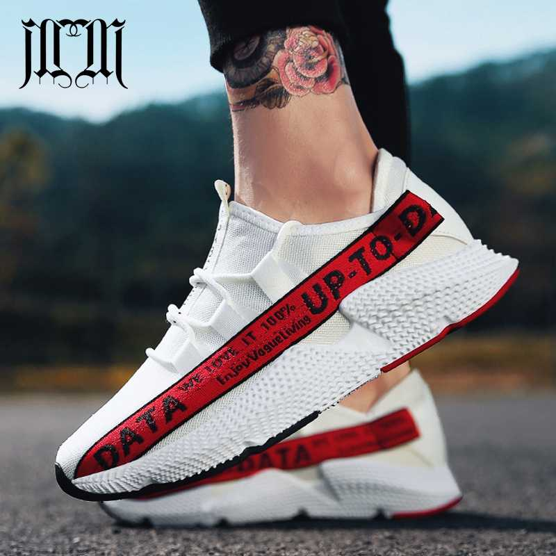 165c6c0bb MumuEli новый белый красный желтый Мужская обувь Повседневное 2019 Дизайнер  Высокое качество модные роскошные без каблука