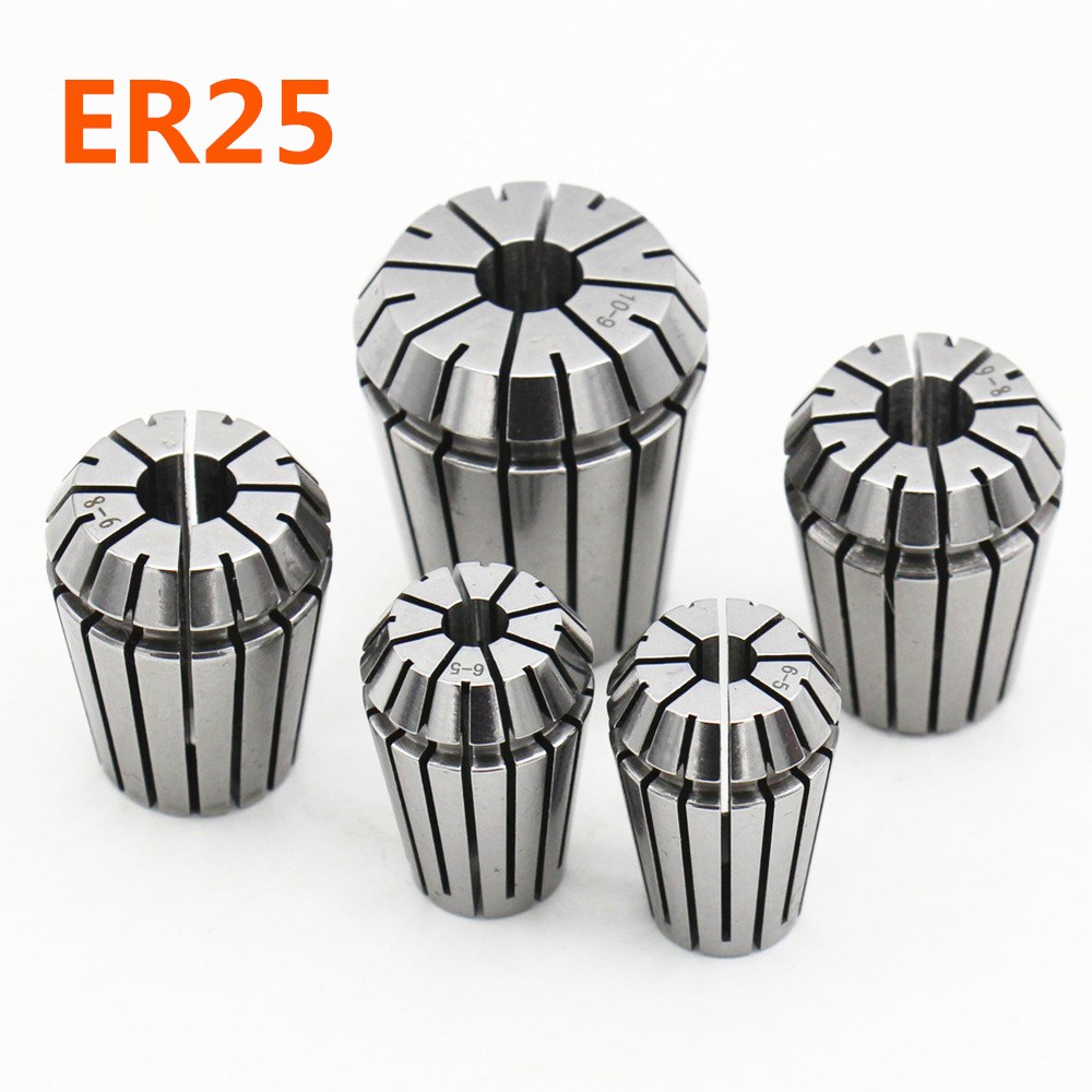 Original accessories fixture ER25 3mm 4mm 6mm 8mm 10mm high precision 0 008mm elastic collet chuck CNC engraving machine chuck in Tool Holder from Tools