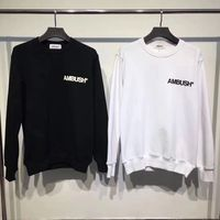 Newest 18ss Hip Hop Hip Hip AMBUSH Fashion Men Women Sweatshirt Japan tide Clothes Skateboard Hoodies Sweatshirts Black whit
