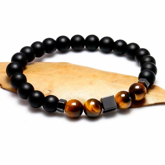 Achat Bracelet Oeil De Tigre Homme onyx mat noir