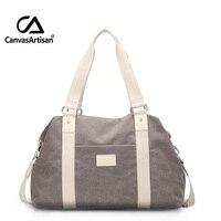 Canvasartisan Unisex Canvas Large Capacity Travel Handbag Men and Women Travel Duffle Bags Multifunctional Crossbody Travel Bag