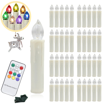 40PCS/PKG Fairy Tale Christmas LED Candle Lamp flameless Multicolor Lighting Christmas Tree Party Decoration