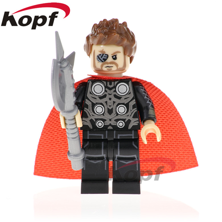 20Pcs Super Heroes Thor Figures Ebony Maw Doctor Strange Pepper Potts Bricks Set Model Building Blocks Children Toys Gift PG1569