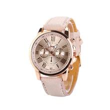 New Fashion Unisex Leather PU Quartz Watches Men Women Luxury Brand Numerals Roma Men's Watch Casual Dress Wrist Watches PT
