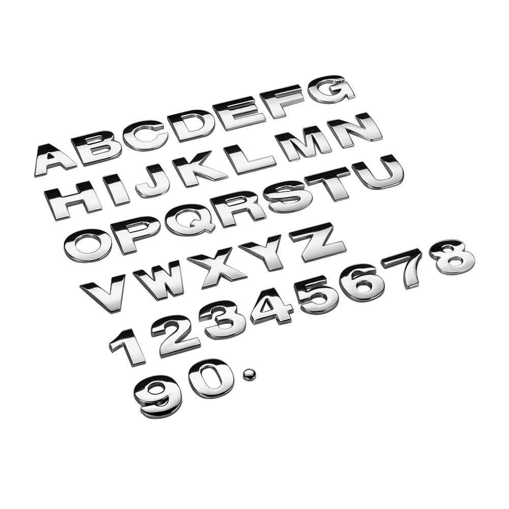 Logo de voiture de queue modifié par norme de déplacement de voiture en métal pur solide