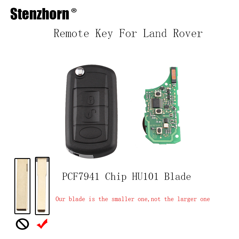 Stenzhorn 3Buttons 433Mhz Car Complete Remote key Fob For Land Rover Discovery 3 LR3 Flip Car Keys with PCF7941 chip&HU101 Blade