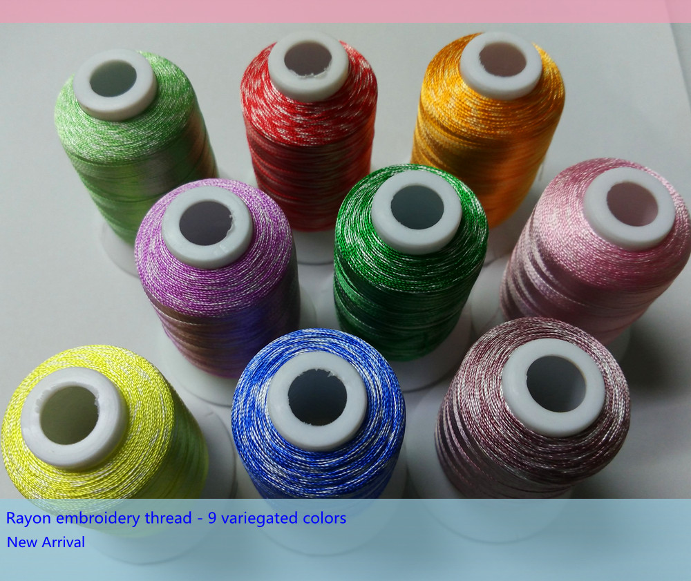 Rayon Silk art Machine Hand embroidery Thread assorted useful colors