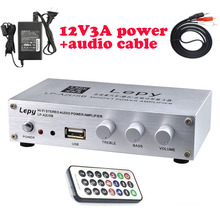 Lepy A2USB With 12V3A Power Adapter And Remote Control 2*20W Hi Fi Digital Mini Audio Stereo Home Car Amplifier-in Amplifier from Consumer Electronics on Aliexpress.com | Alibaba Group