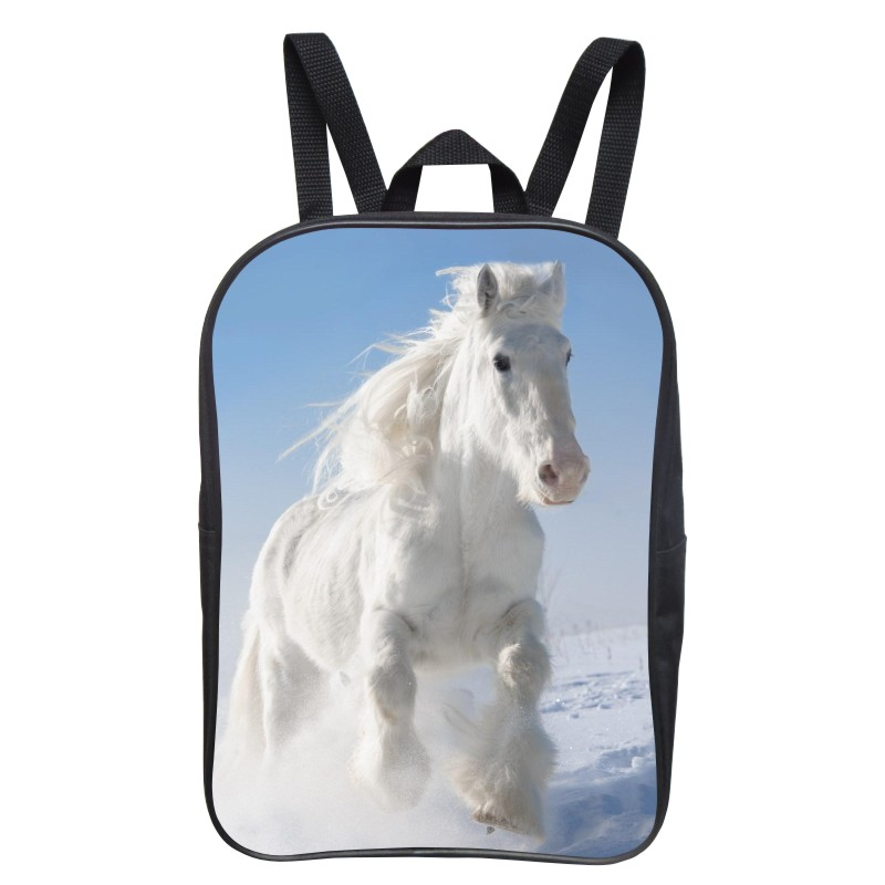 FEIHENG Brand Printing Animal Horse Small font b Backpack b font Girls School Bags Children Mini