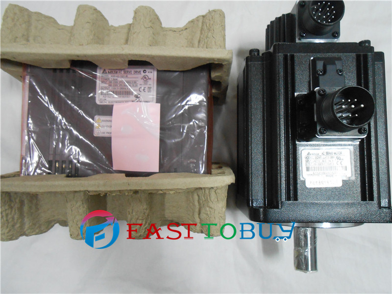 CNC 3KW AC Servo Motor Drive kits System 400V 19.10NM 1500r/min 180mm Keyway brake with 3M cable ECMA-L11830SS+ASD-A2-3043-M купить