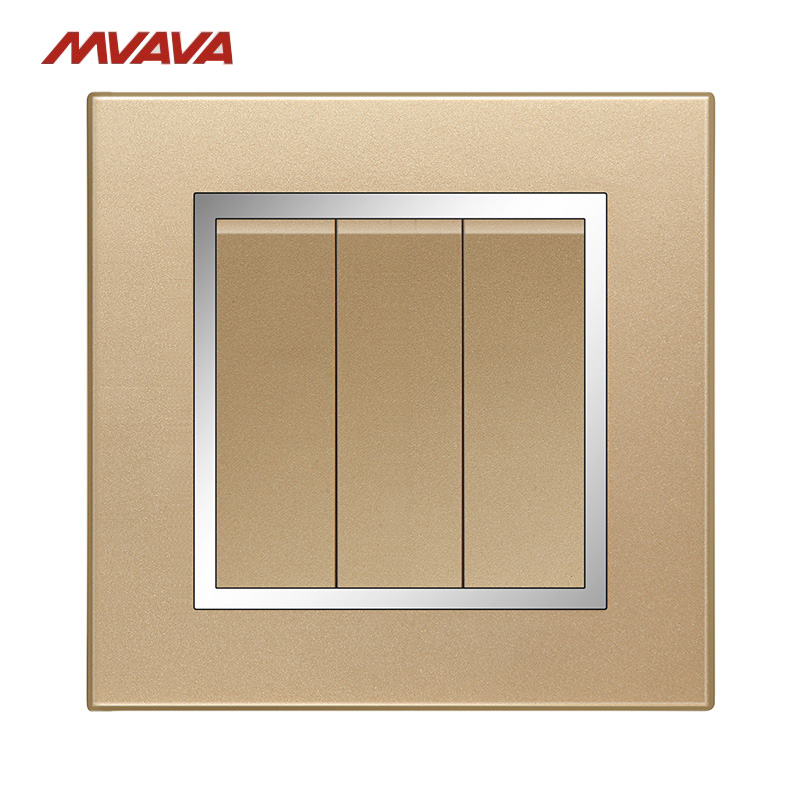 Wall Accent Lighting With Switch: Aliexpress.com : Buy MVAVA 3 Gang 1/2 Way Push Button