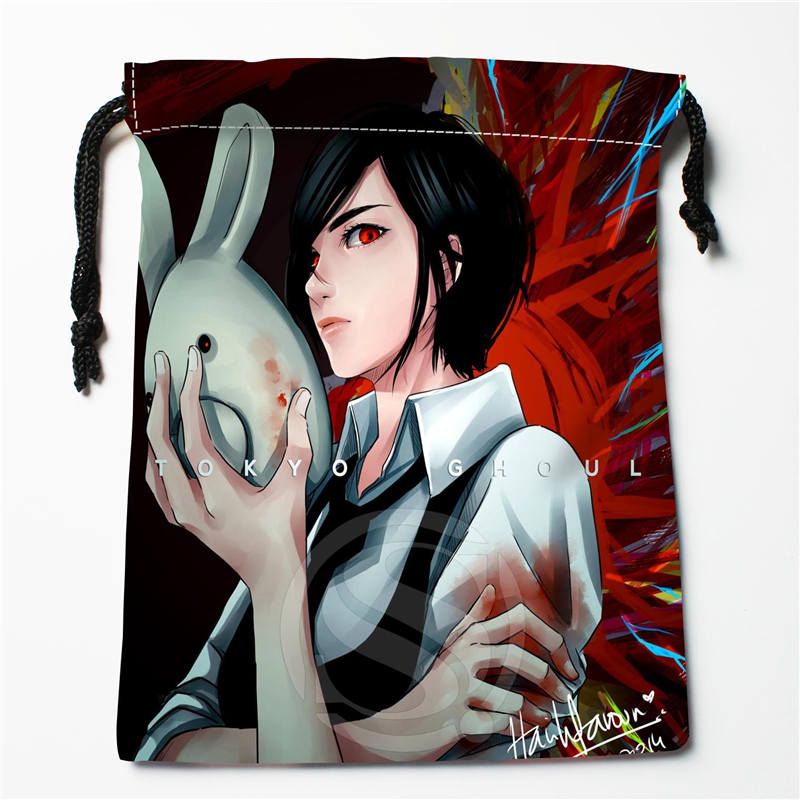 E-202 New Tokyo Ghoul Custom Logo Printed  Receive Bag  Bag Compression Type Drawstring Bags Size 18X22cm R801R202YL