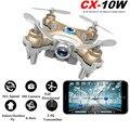 Dron Quadrocopter Cheerson CX-10W CX10W Pocket Drone With Wifi FPV Camera 4CH 6Axis Gyro Quadcopter RTF UAV RC Helicopter