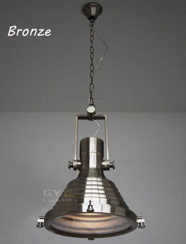 Lustres Modern Industrial vintage metal pendant light Big heavy matte black silver bronze high bay warehouse pendant lights
