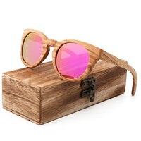 Fashion round wood ladies sunglasses luxury brand design handmade men and women polarized travel sun glasses