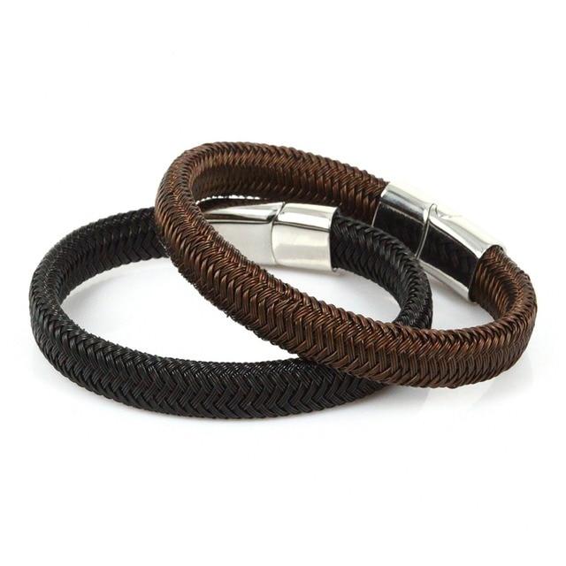 New Steel Wire Braided Wrap Bracelets & Bangles Handmade Genius ...