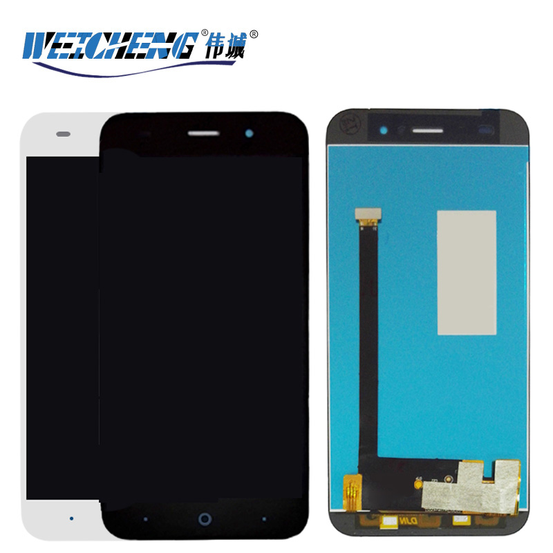 For <font><b>ZTE</b></font> Blade Z7 X7 V6 D6 <font><b>T660</b></font> T663 LCD Display Touch Screen Digitizer Assembly Black White Color With tools image