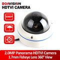 2.0MP 1080P Panorama Fisheye TVI Camera Full 360 Degree View Angle 1.7mm 5MP Lens Panoramic CCTV Security Camera Outdoor Use