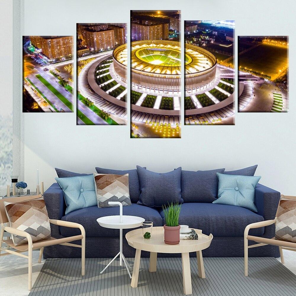 Wall art HD print 5 pieces canvas painting Russia Krasnodar city landscape home decoration pictures