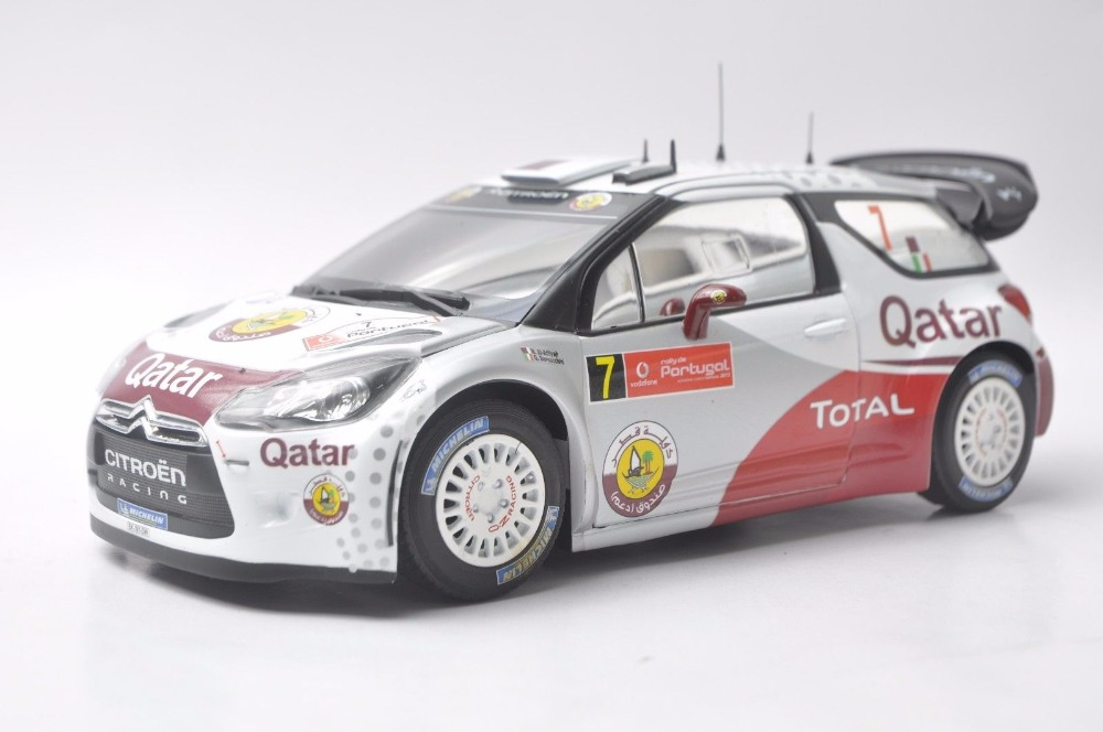 1:18 Diecast Model for Citroen Racing DS3 2012 WRC Alloy Toy Car Miniature Collection Gift scale new 1 18 citroen c quatre 2012 hatchback alloy diecast model car toy gift collection with original box free shipping