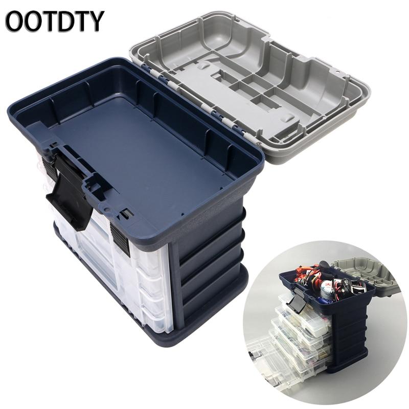 OOTDTY Fishing Accessories 5 Layer Fishing Tackle Box Plastic Handle Fishing Box Carp Fishing Tools Free Registered Mail